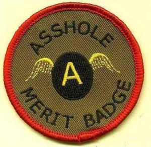 asshole meritbadge